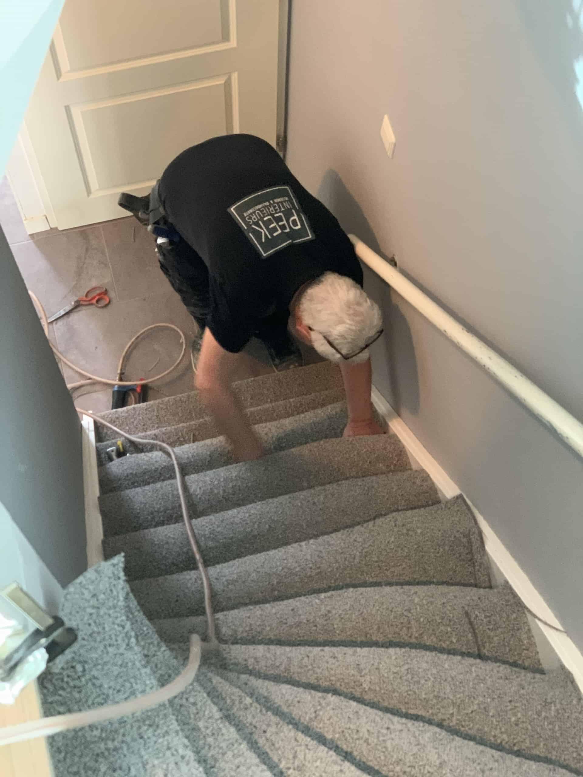 Tapijt op de trap
